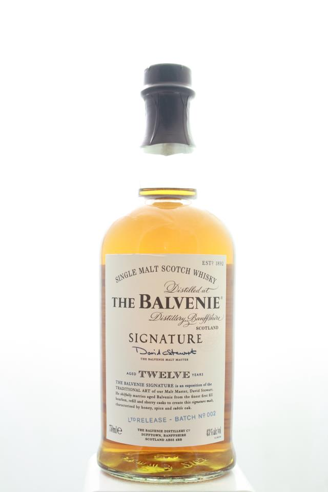 The Balvenie Single Malt Scotch Whisky Signature Matured in Three Distinct Caks Limited Release Batch #002 12-Years-Old NV