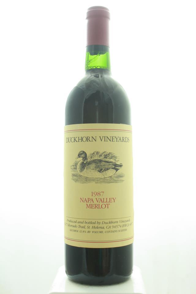 Duckhorn Merlot Napa Valley 1987