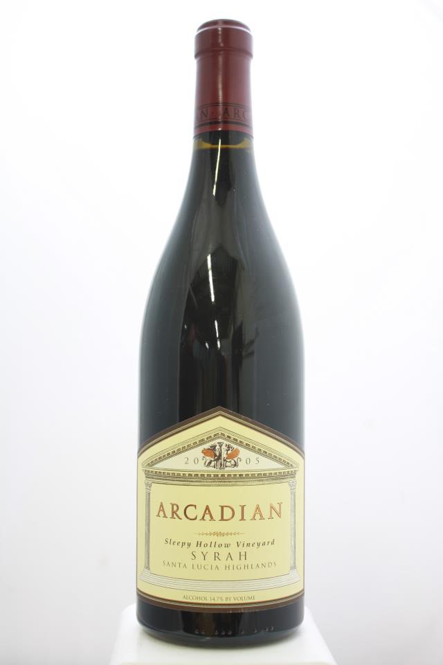 Arcadian Syrah Sleepy Hollow Vineyard 2005