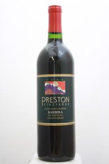 Preston Vineyards Barbera Dry Creek Valley 1996