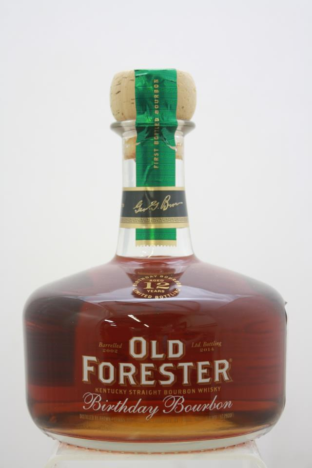 Old Forester Kentucky Straight Bourbon Whisky 12-Years-Old Birthday Bourbon Limited Bottling 2002