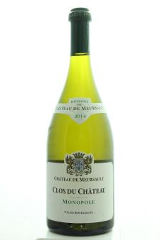Domaine du Château de Meursault Bourgogne Blanc Clos du Château 2014