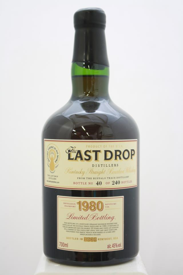 Buffalo Trace Distillery Kentucky Straight Bourbon Whiskey The Last Drop Limited Bottling Box Set 1980