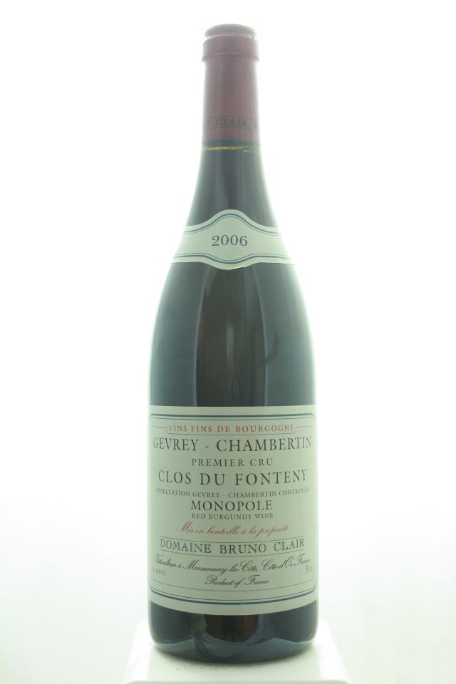Bruno Clair Gevrey-Chambertin Clos du Fonteny 2006