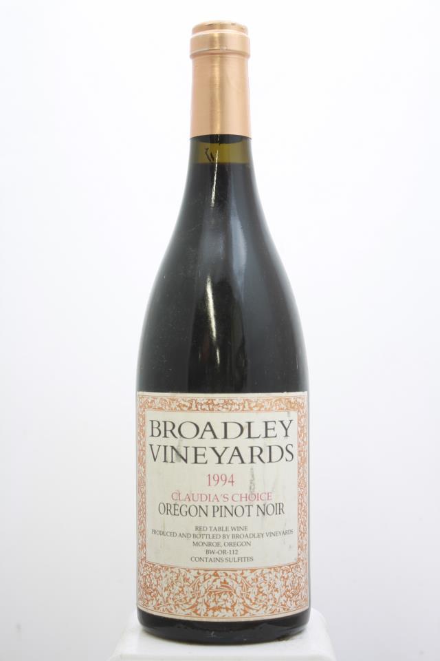 Broadley Cellars Pinot Noir Claudia's Choice 1994