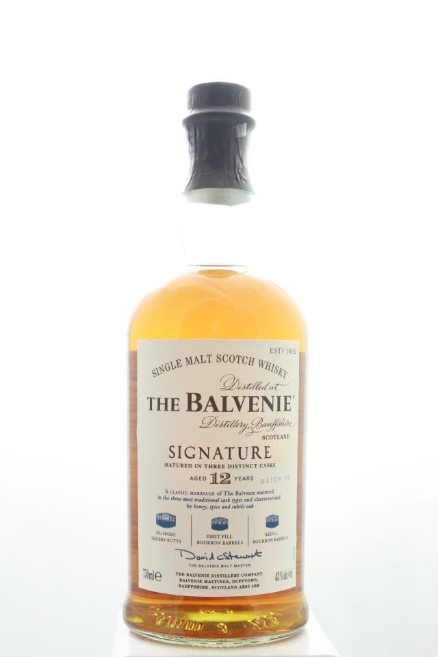 The Balvenie Single Malt Scotch Whisky Signature Matured in Three Distinct Caks Batch #3 12-Years-Old NV