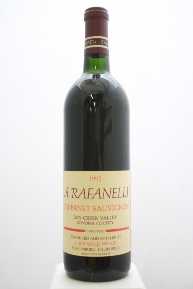 A. Rafanelli Cabernet Sauvignon 1992