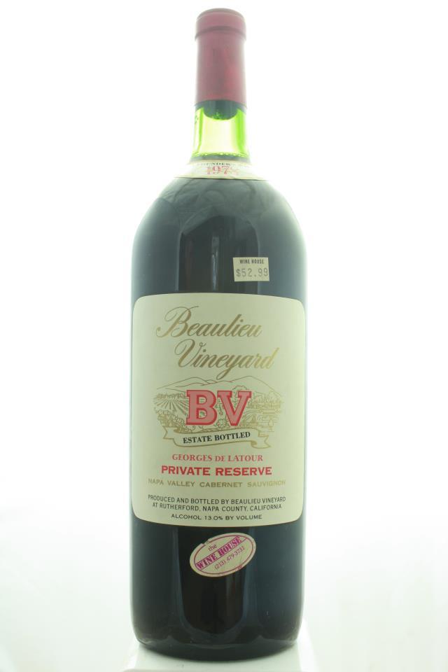 BV Cabernet Sauvignon Georges de Latour Private Reserve 1978