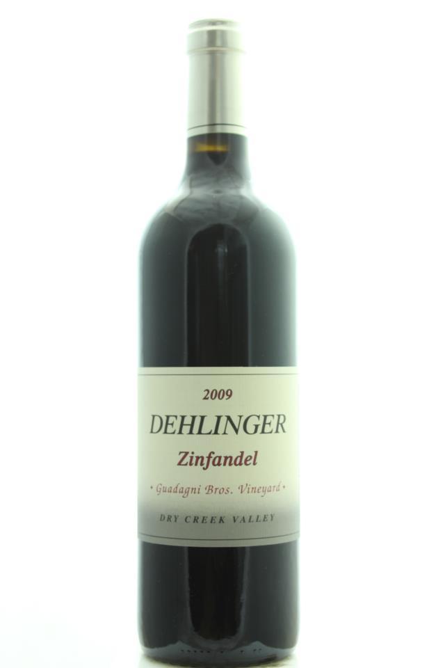 Dehlinger Zinfandel Guadagni Bros. Vineyard 2009