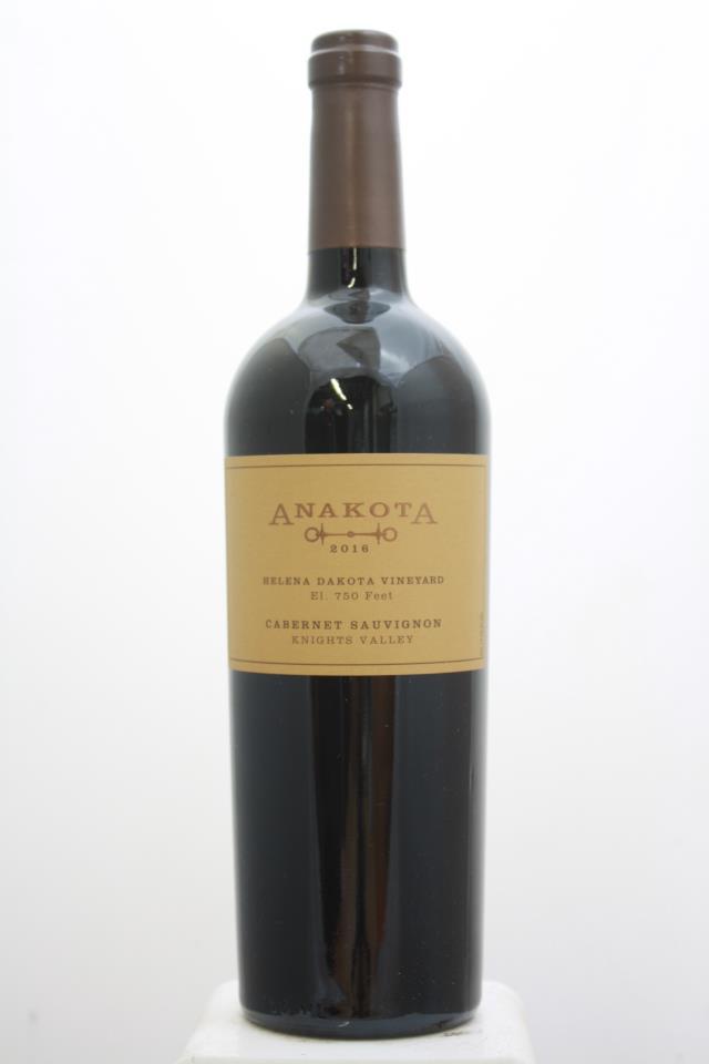 Anakota Cabernet Sauvignon Helena Dakota Vineyard 2016