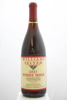 Williams Selyem Pinot Noir Allen Vineyard 2013
