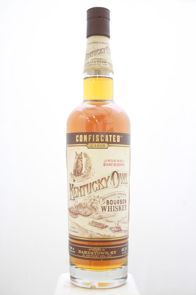 Kentucky Owl Kentucky Straight Bourbon Whiskey Confiscated The Wise Man's Bourbon NV