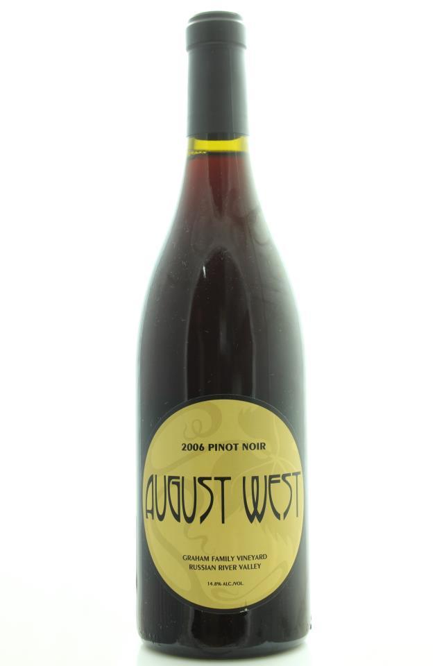 August West Pinot Noir Graham Family Vineyard 2006