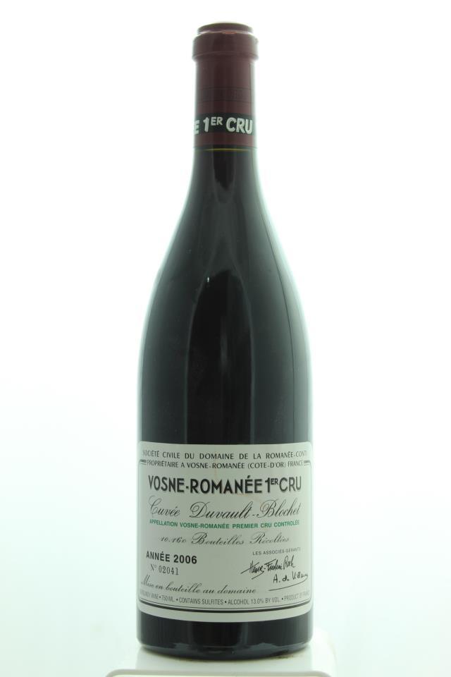 Domaine de la Romanée-Conti Vosne-Romanée 1er Cru Cuvée Duvault-Blochet 2006