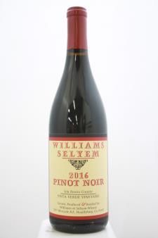 Williams Selyem Pinot Noir Vista Verde Vineyard 2016