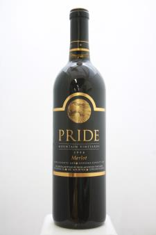 Pride Mountain Vineyards Merlot Sonoma County / Napa County 1998