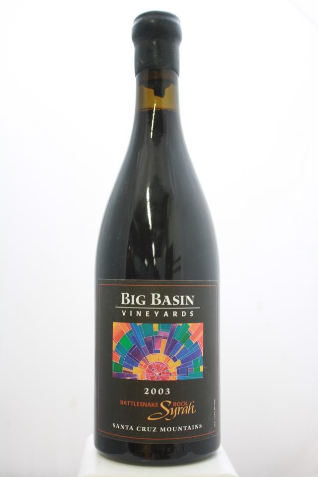 Big Basin Vineyards Syrah Rattlesnake Rock 2003