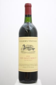 Duckhorn Merlot Vine Hill Ranch 1991