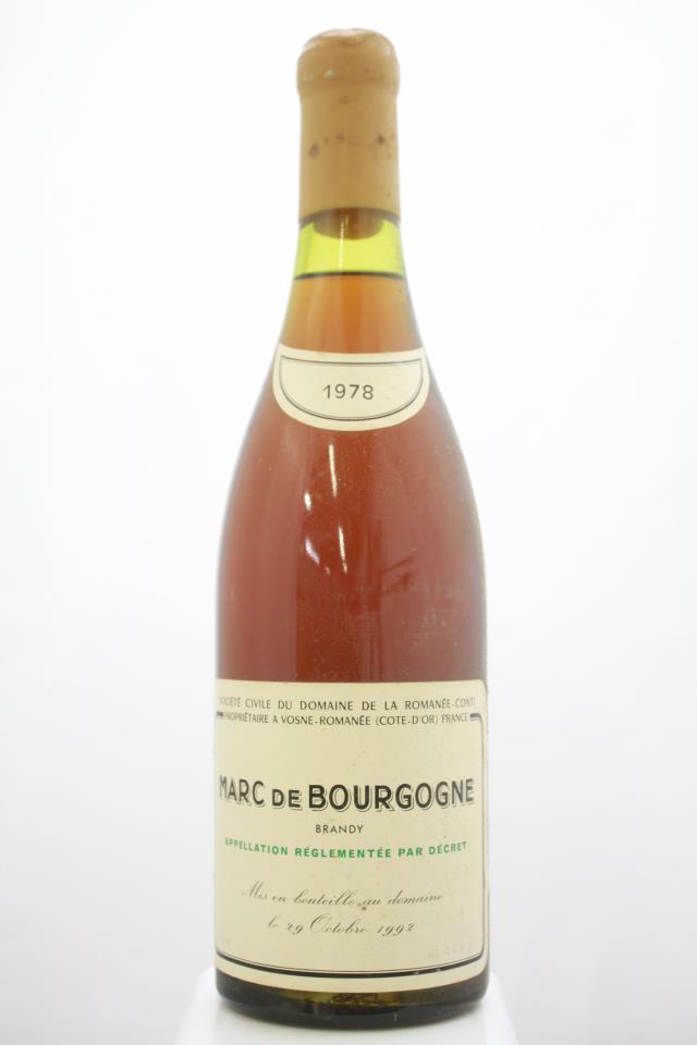 Domaine de la Romanée-Conti Marc de Bourgogne 1978