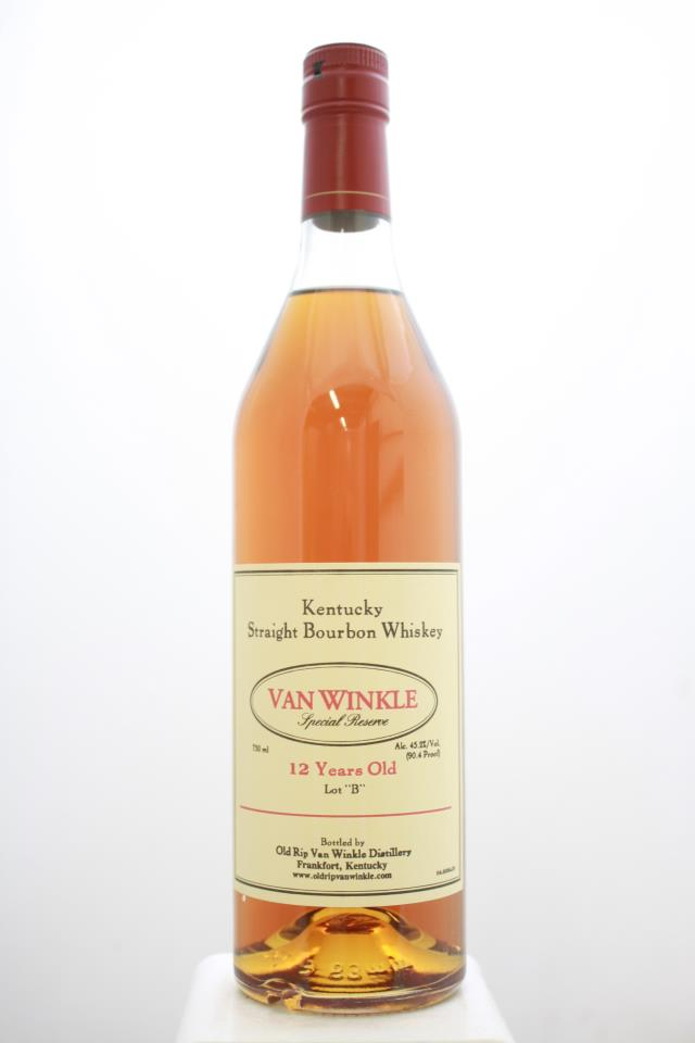 Old Rip Van Winkle Pappy Van Winkle's Kentucky Straight Bourbon Whiskey Family Special Reserve 12-Year-Old Lot B NV