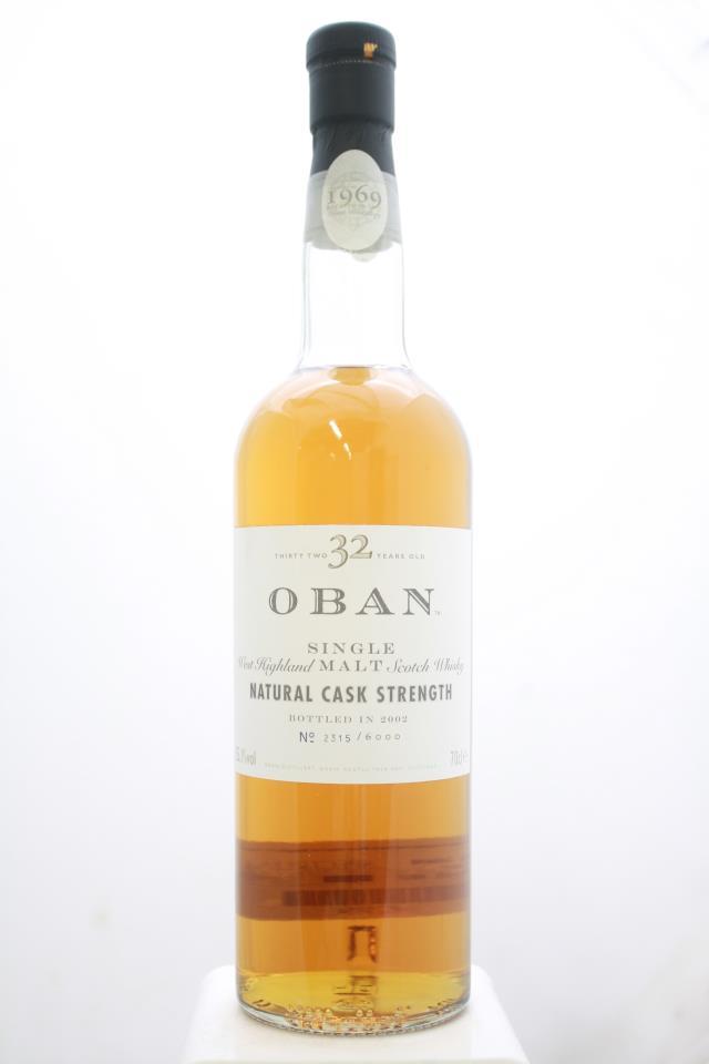 Oban Single West Highland Malt Scotch Whisky Natural Cask Strength 32-Years-Old 1969