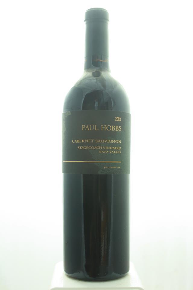 Paul Hobbs Cabernet Sauvignon Stagecoach Vineyard 2003