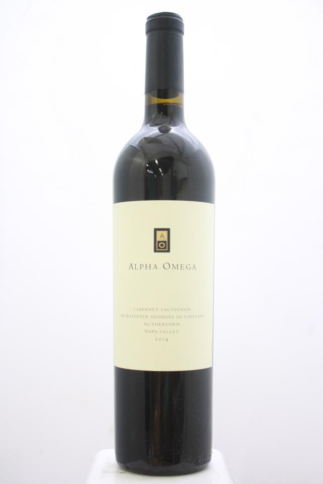 Alpha Omega Cabernet Sauvignon Beckstoffer Georges III Vineyard 2014