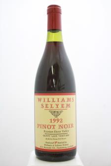 Williams Selyem Pinot Noir Olivet Lane Vineyard 1992