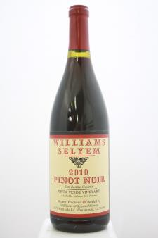 Williams Selyem Pinot Noir Vista Verde Vineyard 2010