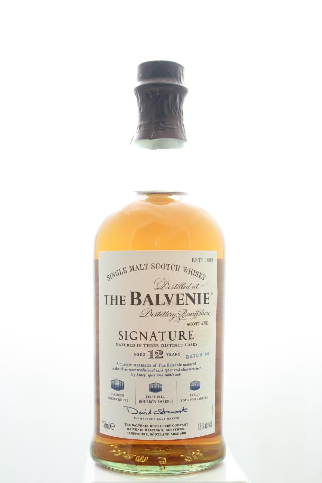 The Balvenie Single Malt Scotch Whisky Signature Matured in Three Distinct Caks Limited Edition Batch #4 12-Years-Old NV