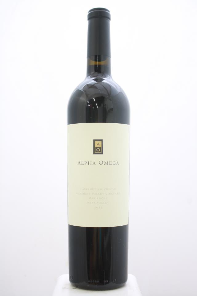 Alpha Omega Cabernet Sauvignon Sunshine Valley Vineyard 2012
