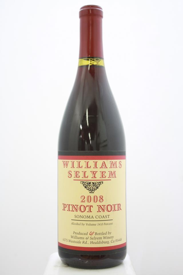 Williams Selyem Pinot Noir Sonoma Coast 2008