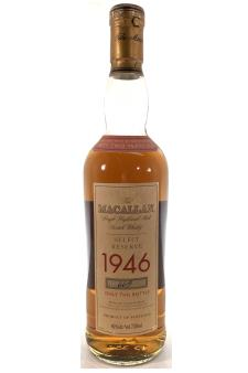 The Macallan Single Highland Scotch Whisky 52-Years-Old Select Reserve 1946
