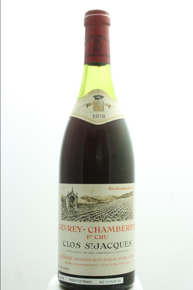 Armand Rousseau Gevrey-Chambertin Clos Saint-Jacques 1978