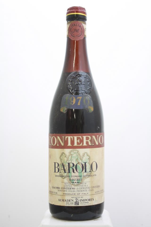 Giacomo Conterno Barolo Riserva 1970