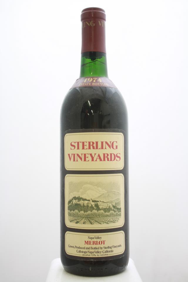Sterling Vineyards Merlot Napa Valley 1974