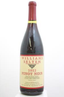 Williams Selyem Pinot Noir Calegari Vineyard 2012