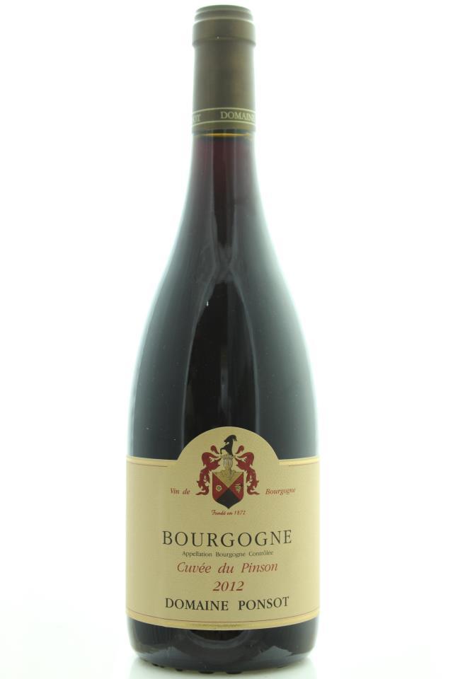Domaine Ponsot Bourgogne Cuvée du Pinson 2012