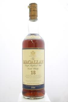 The Macallan Single Highland Malt Scotch Whisky 18-Years-Old 1985