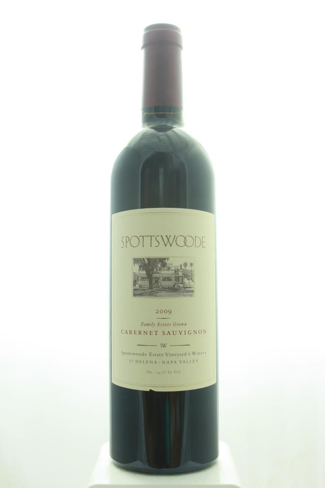 Spottswoode Cabernet Sauvignon Spottswoode Estate Vineyard 2009