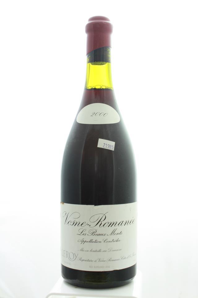Domaine Leroy Vosne-Romanée Les Beaux Monts 2000