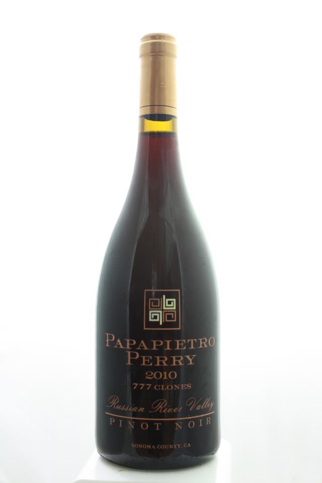 Papapietro Perry Pinot Noir 777 Clones 2010