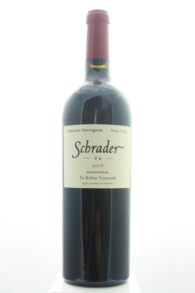 Schrader Cabernet Sauvignon Beckstoffer To Kalon Vineyard T6 2016