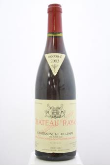 Château Rayas Châteauneuf-du-Pape Réservé 2003