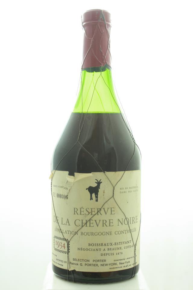 Boisseaux-Estivant Bourgogne Réserve de la Chèvre Noire 1934