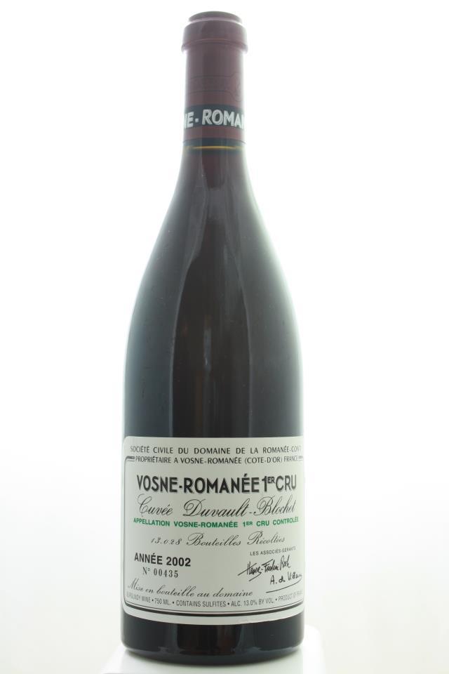 Domaine de la Romanée-Conti Vosne-Romanée Cuvée Duvault-Blochet 2002