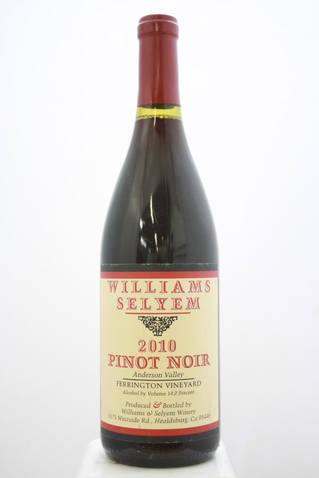 Williams Selyem Pinot Noir Ferrington Vineyard 2010