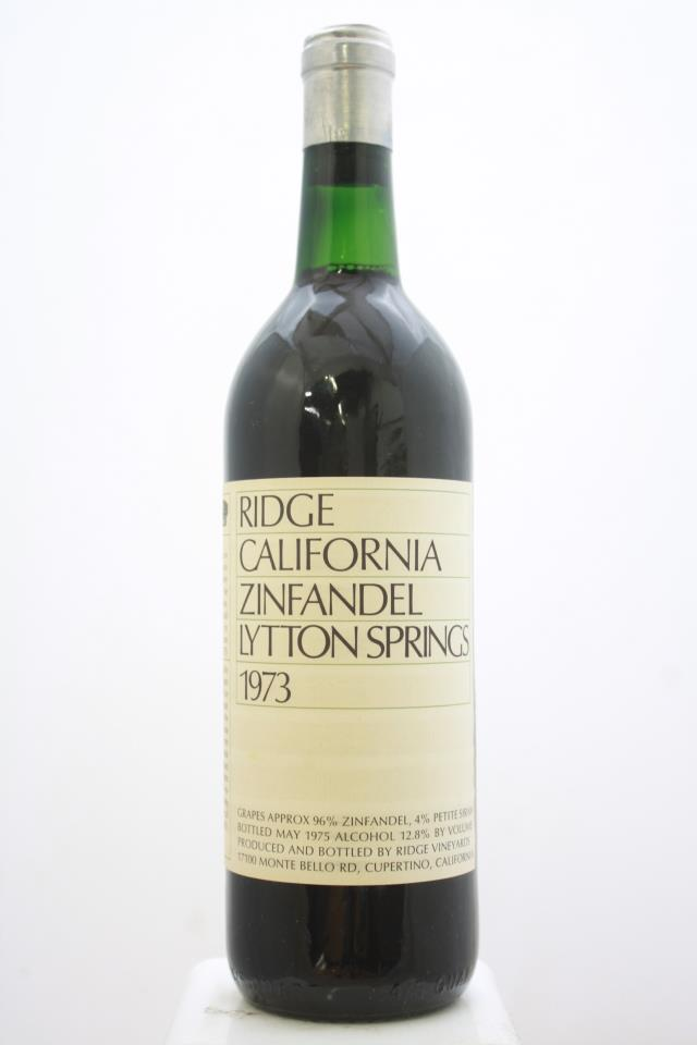 Ridge Vineyards Zinfandel Lytton Springs 1973