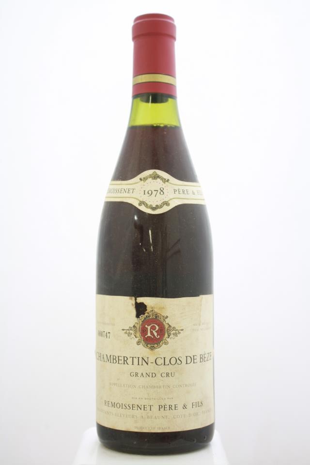 Remoissenet Chambertin-Clos de Bèze 1978