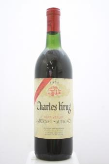 Charles Krug Cabernet Sauvignon Vintage Selection 1974